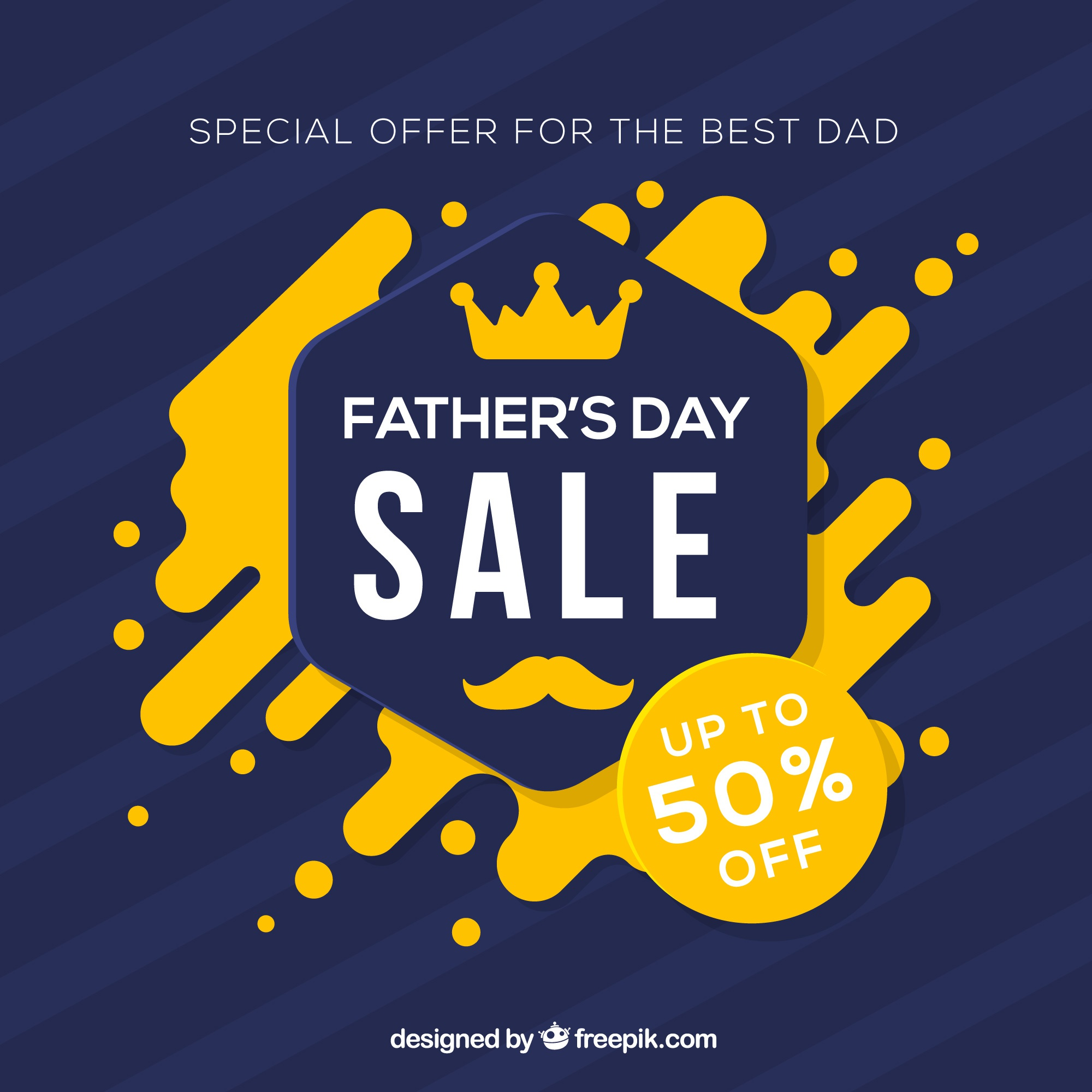 Father's day sale template with abstract shapes