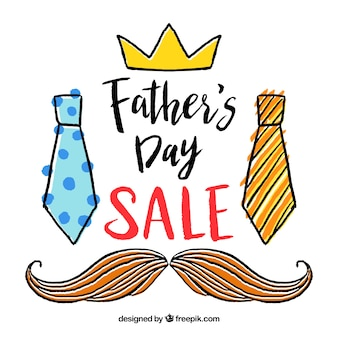 Father's day sale template with clothes elements