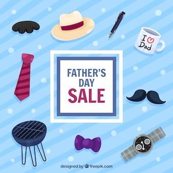 옷 요소와 아버지의 날 판매 템플릿