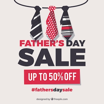 Father's day sale template with different ties