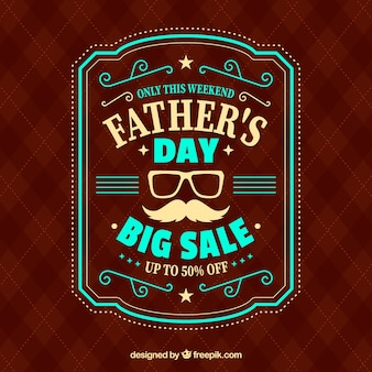 Father's day sale template with red pattern