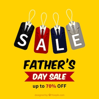Father's day sale template with suit labels