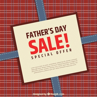 Father's day sale with gift box background