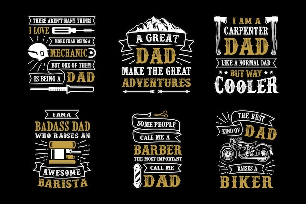Father's day saying & quote set