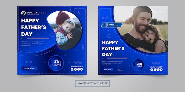 Father's day social banner