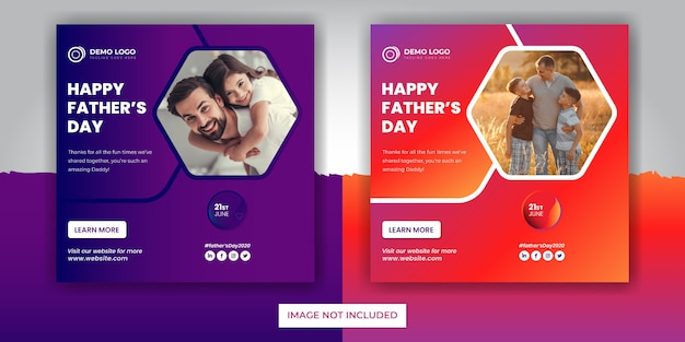 Father's day social media post banner