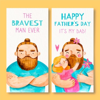 Father's day vertical banners