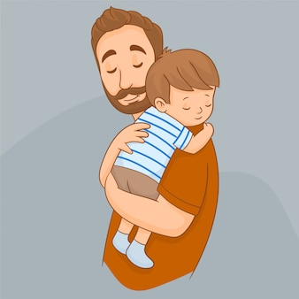 Father with his cute child