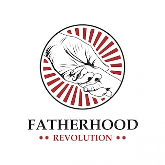 Fatherhood vector logo template