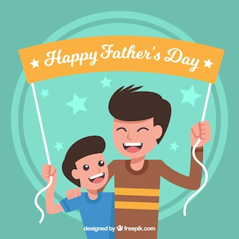 Fathers day background with banner