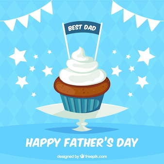 Fathers day background with muffin