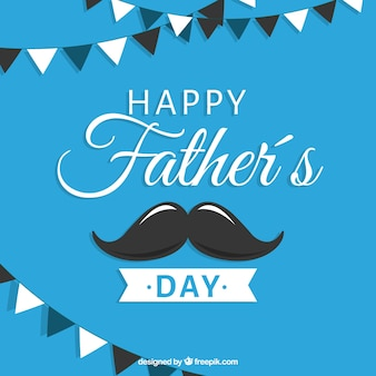 Fathers day background with mustache