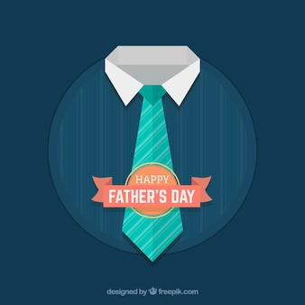 Fathers day background with tie