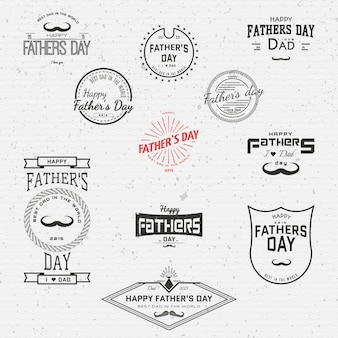 Fathers day badges logos and labels for any use