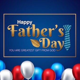 Fathers day banner design with lettering