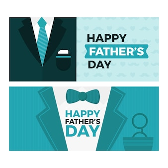 Fathers day banners template
