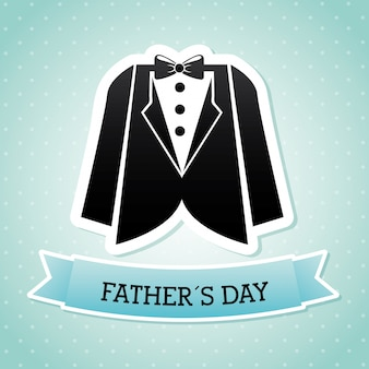 Fathers day over blue background vector illustration