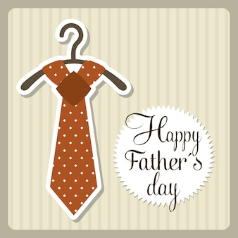Fathers day card over beige background vector illustration