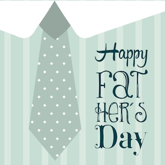 Fathers day card over blue background vector illustration