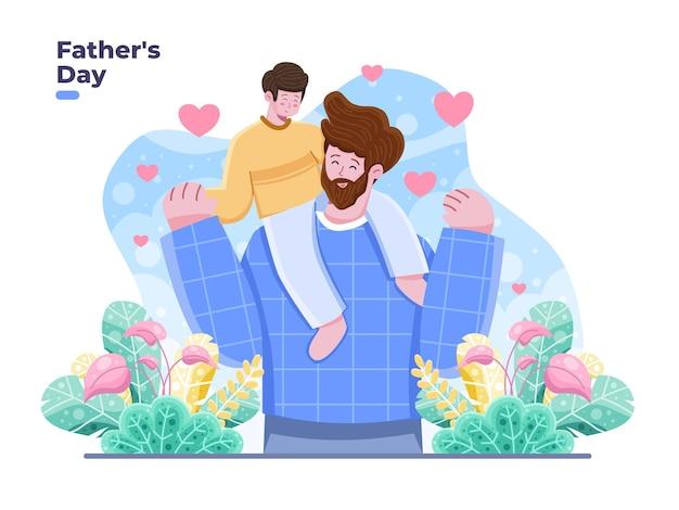 Fathers day   flat illustration