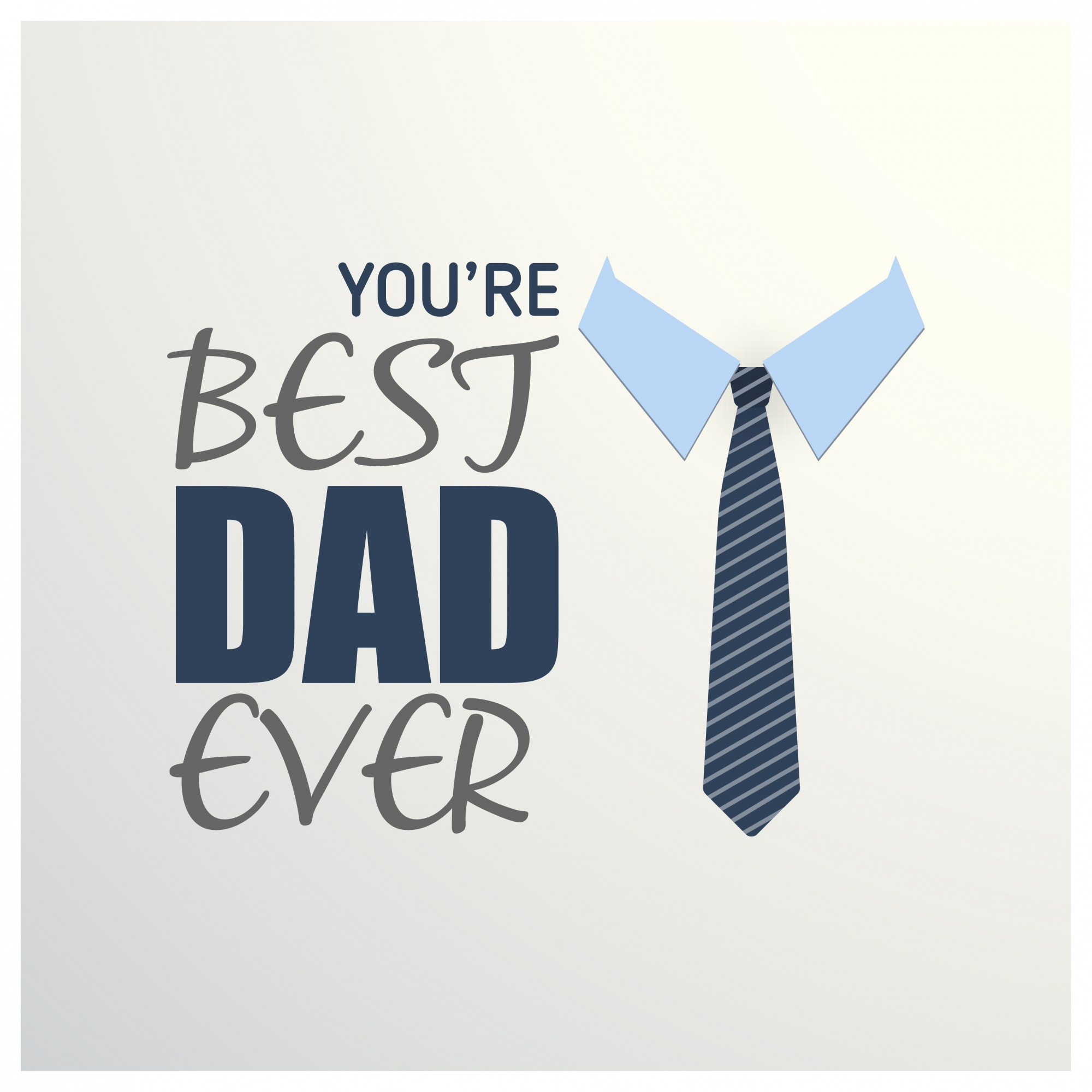 Fathers day greeting card with tie