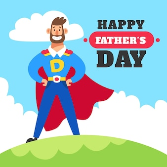 Fathers day illustrated concept