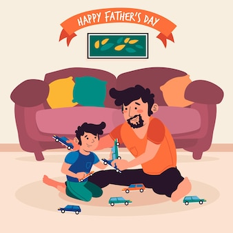 Fathers day illustrated