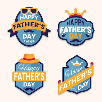 Fathers day label collection theme