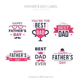 Fathers day label collection