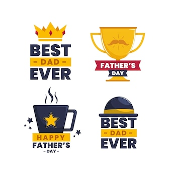 Fathers day labels collection