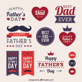 Fathers day labels Premium Vector