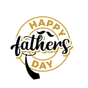 Fathers day lettering typography quotes