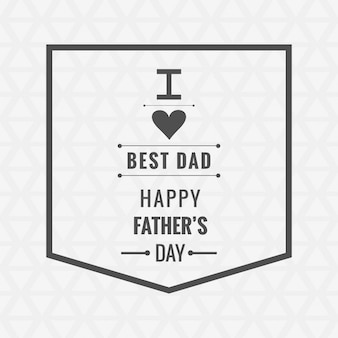Fathers day modern card with cute phrase