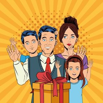 Fathers day pop art cartoons