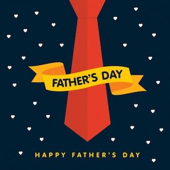 Fathers day nastro banner con il legame di fondo