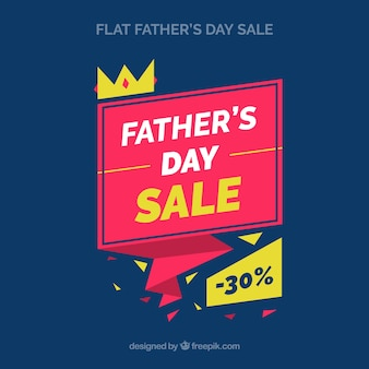 Fathers day sale background in origami style
