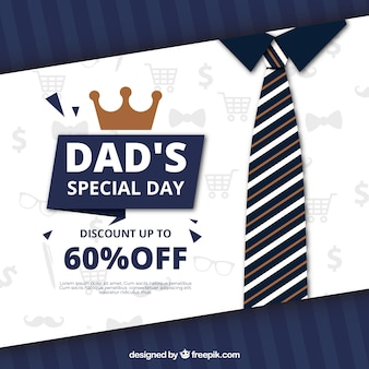 Fathers day sale background with tie