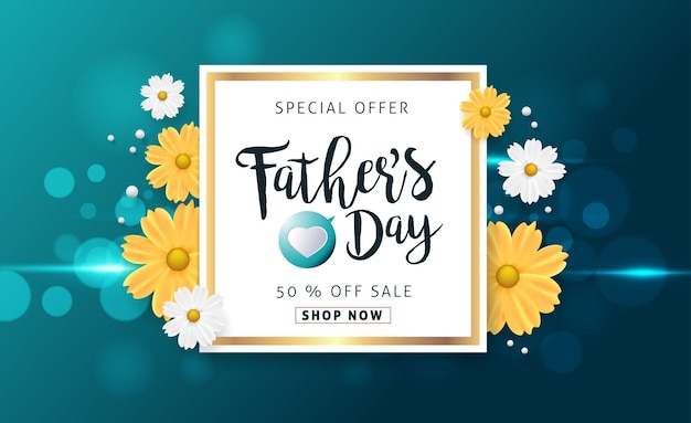 Fathers day sale banner.