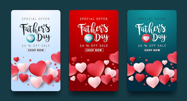 Fathers day saler banner.