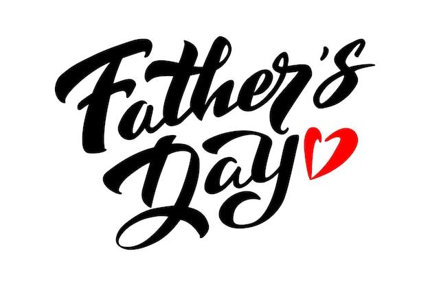 포스터 전단지 초대장에 대한 아버지의 날 타이포그래피 벡터 텍스트 손으로 쓴 글자