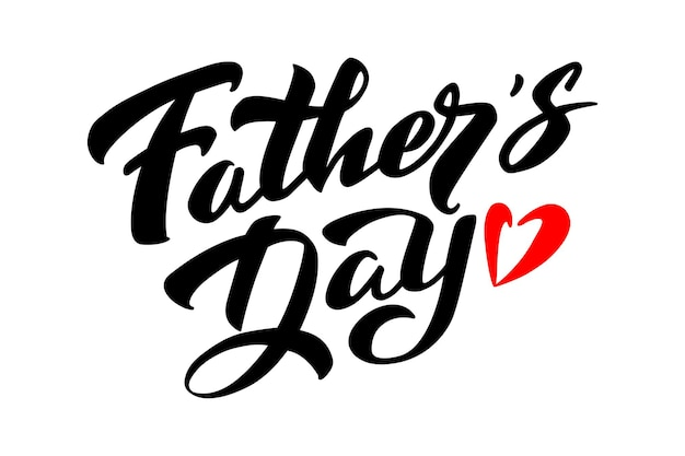 Fathers day typography vector text handwritten lettering  for posters flyers invitations