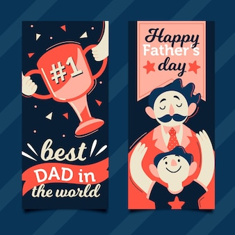 Fathers day vertical banners
