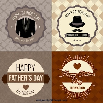 Fatherss day badges collection