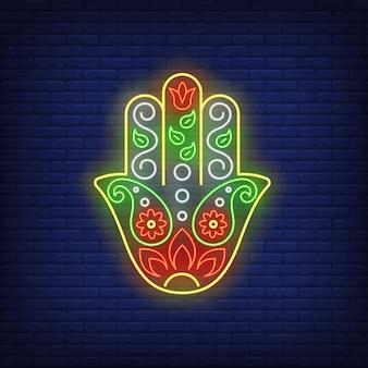 Fatima hand neon sign