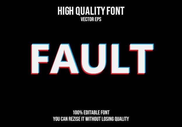 Fault vector text font effect
