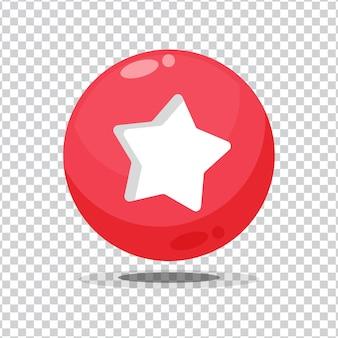 空白の背景にお気に入りのサインボタン