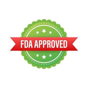 Fdaは、白い背景の上のグランジゴム印を承認しました。図。