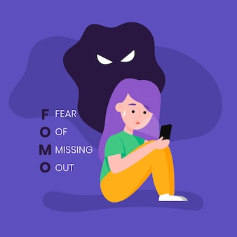 Fear of missing out concept