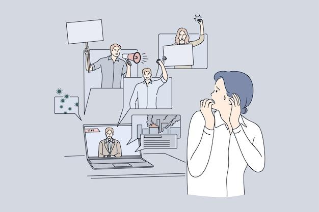 인터넷 개념에 대한 대중 매체의 영향에 대한 두려움, 부정적인 뉴스.