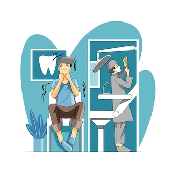 치과의사 또는 치아공포증에 대한 두려움